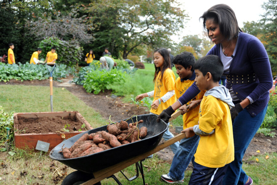 The White House Vegetable Garden The Christian Science Monitor