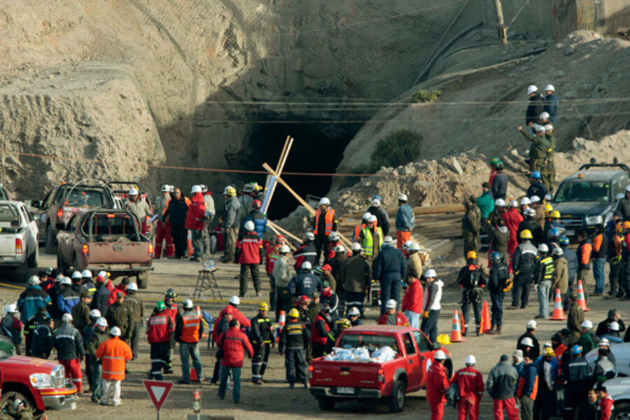 the announcement of collapse chilean mines