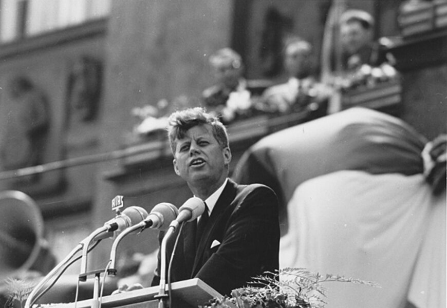 john f kennedy thesis On a cold day in 1961, john f kennedy delivered a speech to the citizens and peoples of both america and the world after the end of a close and competitive election, he used this speech not to celebrate his victory as president, but to unite the audience.