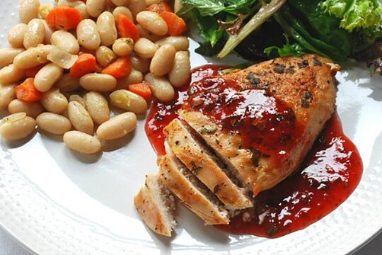 26 strawberry recipes - Grilled chicken with strawberry ...