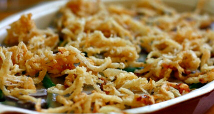 Green bean casserole, two variations