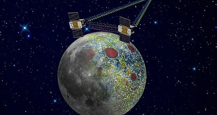NASA Grail probes circling the moon on New Year's Day