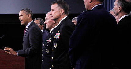 Leaner military, weaker military? Obama must tread tricky line.