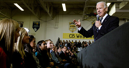 Biden, in a swing state, addresses student anxiety over college costs