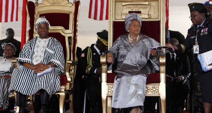 Liberia's Sirleaf takes oath for second term, promises reconciliation