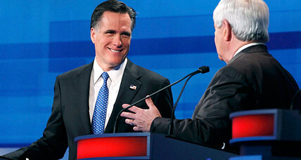 In South Carolina debate, rough patches for usually polished Mitt Romney