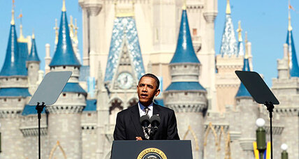 Obama at Disney World: foreign tourists could create 1 million jobs