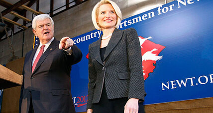 Newt Gingrich strikes back, family by his side, in South Carolina