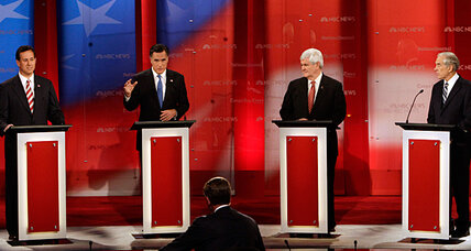 Florida GOP debate: Romney assails Gingrich record at House, Freddie Mac (+video)