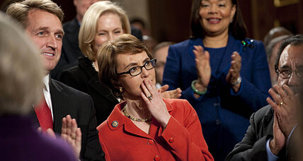 Gabrielle Giffords resigns today with standing ovation