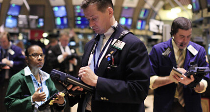 Stocks lowered by mixed economic data