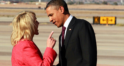 Did Gov. Jan Brewer pick a fight with President Obama to sell books?