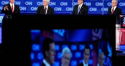 A confident Romney zings Gingrich in Republican debate No. 19