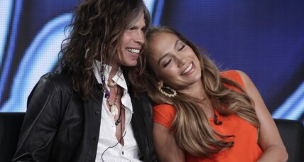 American Idol judge behaving badly: Steven Tyler puckers up in Aspen
