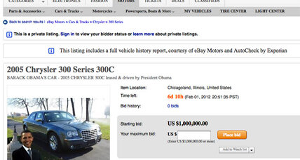Obama car for sale: Only 20,800 miles. $1 million.