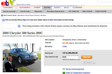 Obama Car For Sale Only 20 800 Miles 1 Million Csmonitor Com