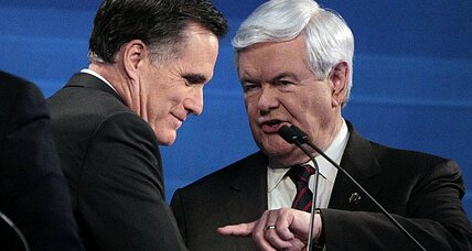 South Carolina debate: Gingrich and Romney face each other - and their baggage