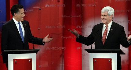 Gingrich, Romney clash in heated Tampa debate