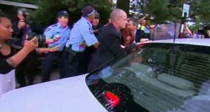 Australia Prime Minister Gillard rescued amid rowdy aboriginal rights protests
