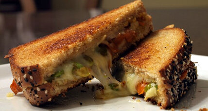 Meatless Monday: Balsamic glazed carrots and edamame grilled cheese