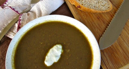 Meatless Monday: Curried green lentil soup with raita