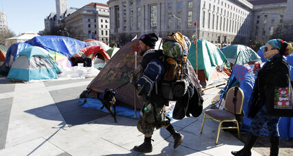 Occupy DC protesters reminded of no-camping ban by authorities