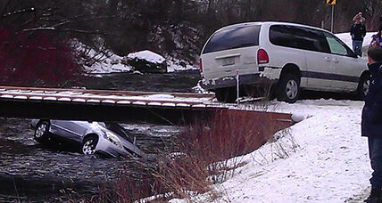 Utah family rescued from icy river by bystanders