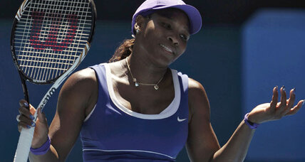 Serena falls at Australian Open; Djokovic, Wozniacki advance