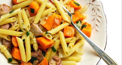 Sweet potato sage pasta with chicken