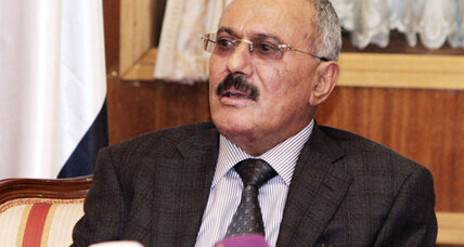 Yemen's President Saleh departs for US, apparently ending his rule