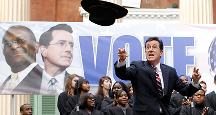 What did Stephen Colbert super PAC spend its money on?