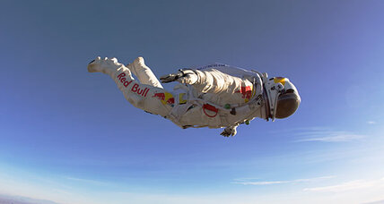 Red Bull-fueled daredevil plans record skydive from edge of space