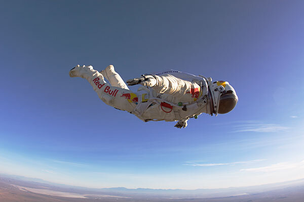 red bullfueled daredevil plans record skydive from edge