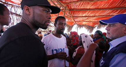 Rapper 50 Cent joins battle against Somali hunger