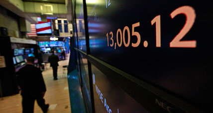 US stocks shrug off higher gas prices to push Dow above 13,000