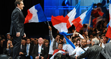 In a tight French election, Sarkozy is suddenly everywhere