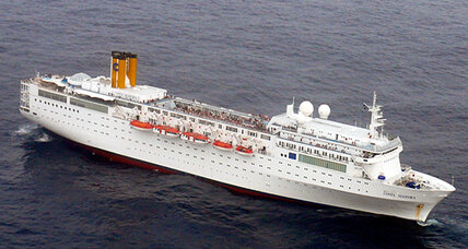 Costa cruise ship stranded in pirate waters near the Seychelles