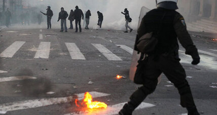 Rioting, fires break out in Athens amid protests against Greek austerity