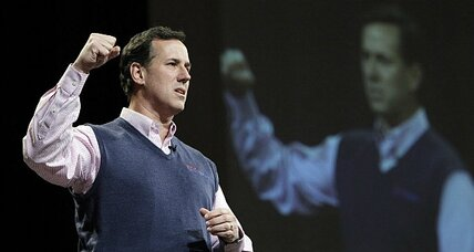 Is Rick Santorum helped or hurt when he talks morality?