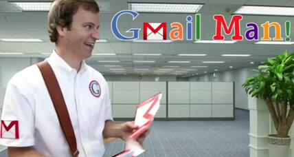 With Gmail Man spoof, Microsoft assails Google privacy policy (+video)
