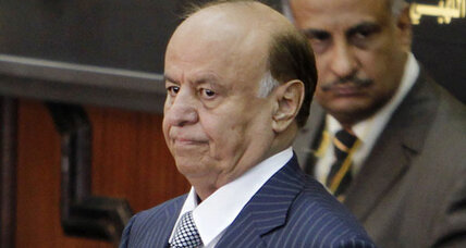 President Hadi takes power as Yemen's first new leader in three decades