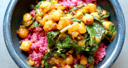 Meatless Monday: Cumin-scented quinoa with beets and curried chickpeas