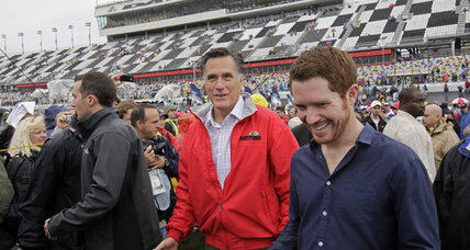 Mitt Romney at Daytona 500. Shouldn't he be in Michigan?
