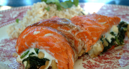 Valentine's Day dinner idea: Roasted salmon roll