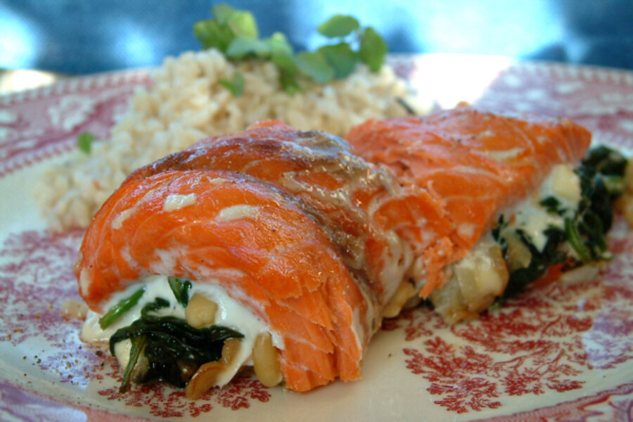Valentine S Day Dinner Idea Roasted Salmon Roll Csmonitor Com