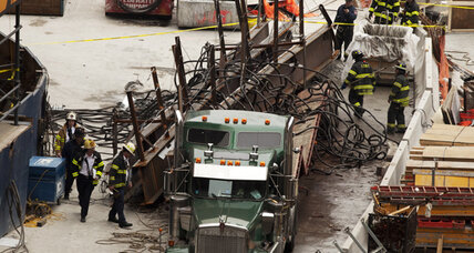 WTC accident: Steel beams fall 40 stories with no injuries