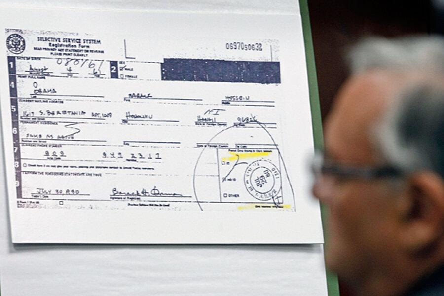 certificate birth sheriff arpaio obama joe forgery arizona csmonitor needles fake standard