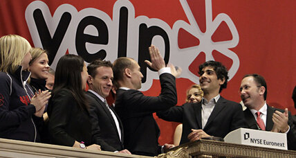 Stocks slip; Yelp IPO skyrockets