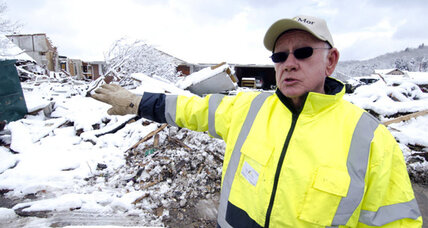 Snowstorms, cold complicate tornado cleanup in Kentucky