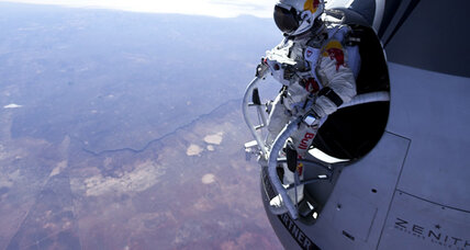 Skydiver falls from stratosphere in preparation for 'space jump'